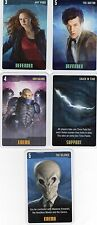 Doctor Who the Card Game 2009 c7e - 5 Art Cards: Silence, Amy, Sontarans etc