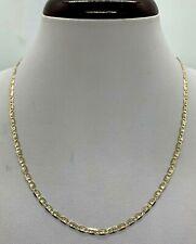 "10K Tricolor Solid Gold Valentino Chain Women's 2.75mm  Size 16""-24"""