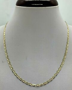 "10K Tricolor Solid Gold Valentino Chain Women's 2.75mm  Size 16""-24"""