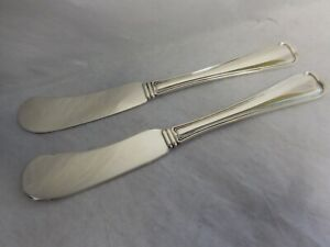 GORHAM OLD FRENCH 1905 PAIR STERLING SILVER FLAT BUTTER SPREADERS NO MONOGRAM