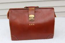 """VTG BROWN LEATHER BRIEFCASE DOCTOR LAWYER ATTACHE TOP HANDLE BAG LAPTOP 13""""17""""7"""""""