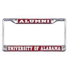 ALABAMA CRIMSON TIDE Chrome ALUMNI License Plate / Tag Frame