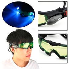 Adjustable Elastic Band Night Vision Glasses Riding Green Lens Cycling Goggles