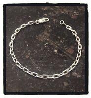 Bracelet Chaîne souple Maille forçat 21 CM Argent Massif 925/1000 Bijoux Mixte