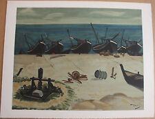 Lithographie André DERAIN Mourlot collection Pierre Lévy barques sur la plage *