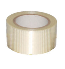 More details for 6 rolls strong durable crossweave filament tape 50mm x 50m reinforced clear