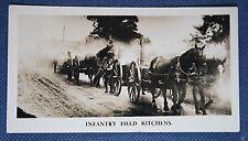 British Infantry   Horse Drawn Field Kitchen  1920's    Vintage Photo Card