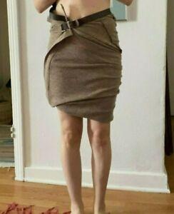 Junya Watanabe comme de garcons Wool Multi-Way Skirt Womens Tan A/D 2007