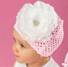 Mud Pie Pink Mesh Jeweled White Flower Hat by Mud Pie One Size Fits Most NWT