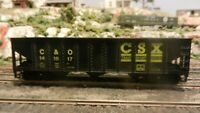 Roundhouse MDC HO 40' CSX Triple Bay Hopper, Upgraded, Exc.
