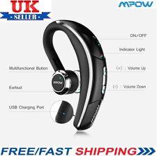 Mpow Bluetooth 4.1 Headset Wireless Headphones Earpiece Hands-free Sports UK BLK
