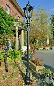 USED Ex-Display Cast Iron and Steel Garden Lamp Post Set Period Light - 2.3m