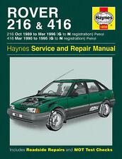 1830 Haynes Rover 216 and 416 Petrol (1989 - 1996) G to N Workshop Manual
