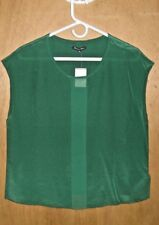 MADEWELL by J.CREW Broadway & Bloom  Silk Tee in Green Size MED  New 92.00