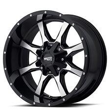 "Off Road 18"" Moto Metal Wheels MO970 Black W Machined Face Rims"
