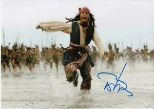 Johnny Depp Pirates of the Caribbean SIGNED PHOTO PRINT 6X4 POSTER AUTOGRAPH