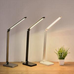 LED Schreibtischlampe Büroleuchte USB Leselampe Arbeitsplatzleuchte Mit Batterie