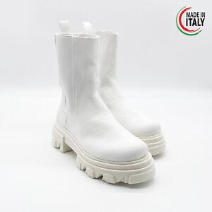Stivali da donna mod.beatles made in italy RossoMora colore bianco €125,00 eu 40