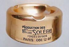 """Ancien CENDRIER en métal doré """"Production des Ets Fernand Solère"""" Années 1930-40"""