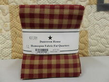 """DUNROVEN HOUSE HOMESPUN FABRIC H100- 300 Red FAT 1/4 BUNDLE 12 SKUS 18""""X22"""""""