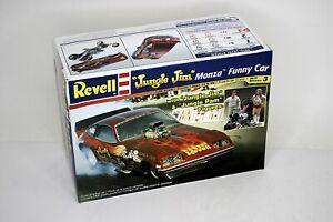 "REVELL ""Jungle Jim"" Monza Funny Car Model Kit 1:25 Scale Open Box Molded White"