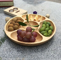 Natural Wood OAK tray 5 compartments WD-227 sharing platters fruits decoration