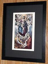 "Incorniciato 12"" x16"", El Greco, Virgin, i comandanti dipinti, BIBBIA DIPINTI"