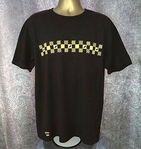 VANS Harry Potter Men's L Classic Fit Black Short Sleeve Hufflepuff T-Shirt