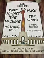 "2011 L.A. Rising Concert Poster - Rage Against the Machine - Muse - 24""x36"""