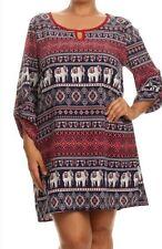 WOMENS PLUS DRESS 2X TUNIC TOP NEW ELEPHANT 18 20 XXL NWT CUTE SUMMER DEAL