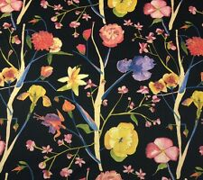 "PAISLEY IVORY /& BLACK 100/% COTTON Soft /& Smooth Fabric 44/""W Dress Drape Crart"