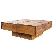 Couchtisch BOLT 80cm sheesham honey finish Massivholztisch Tisch Beistelltisch
