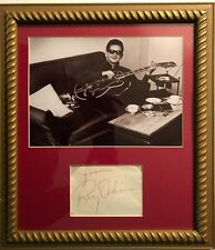 Roy Orbison excellent very large autograph w/ 8x10 beautifully matted & framed