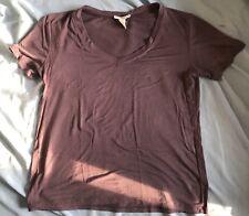 Full Tilt Purple V Neck T Shirt Sz S Short Sleeve