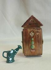 FRANCE LIMOGES BOX GARDENING SHED WITH WATERING CAN *NEW*