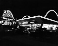 McDonald's Restaurant Photo 8X10  - 1955 Des Plaines Illinois Speedee Kroc