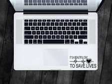 Grey's Anatomy Sticker Save Lives Decal Apple MacBook Mac iPad Laptop Window Car