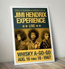 More details for jimi hendrix poster, hendrix print, rock band poster, wall art, reworked gig art