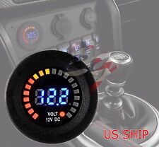 LED Digital Waterproof Voltmeter Gauge Meter 12V-15V Car Auto Motorcycle Boat
