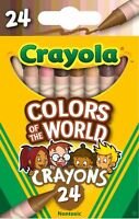 Crayola Colors of the World Crayons, 24 Count Assorted Colors, Child. Brand New!
