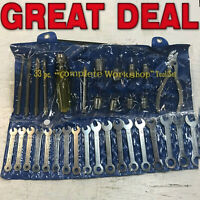 Vintage 33 piece Tool Set with Pouch Japan Complete Workshop Tool set