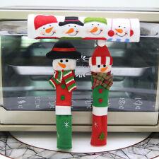 """3 un./Lot Navidad Muñeco de Nieve Navidad Refrigerador Manija De La Puerta De Horno De Microondas Cubierta"""""""