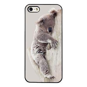 Sleepy Koala plastic phone case fits iPhone