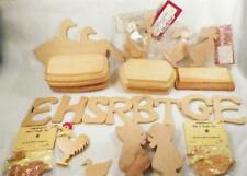 Wood Craft Lot 26 Pieces Geese Sunbonnet Girls Swan Bases Letters More Crafters