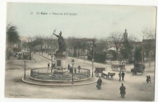 France - Agen, Place du XIV Juillet - animated, 1900's Postcard
