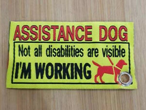 NEW WOVEN Service Dog awareness clip on