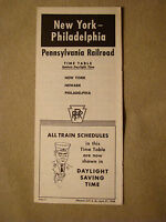 Pennsylvania Railroad - Time Table - New York to Philadelphia - Apr. 27, 1958