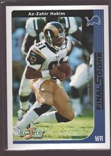 AZ-ZAHIR HAKIM 2002 SCORE FINAL SCORE GOLD MINT SP ST. LOUIS RAMS /100 $12