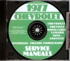 CHEVROLET 1977 Camaro, Nova, Chevelle, Malibu & El Camino Shop Manual CD