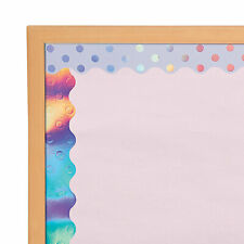 Iridescent Scalloped Double-Sided Bulletin Board Borders